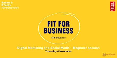 Digital Marketing and Social Media for Beginners Webinar tickets