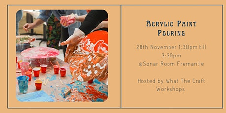 Acrylic Paint Pouring Workshop for Beginners tickets