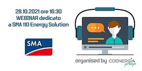 28.10.2021 Webinar SMA 110 Energy Solution biglietti