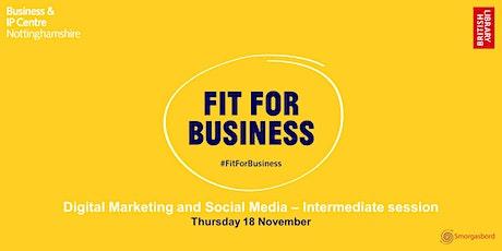 Digital Marketing and Social Media for Intermediates Webinar tickets