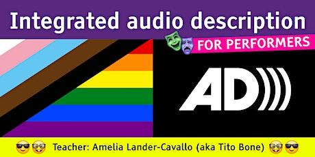 Integrated audio description tickets
