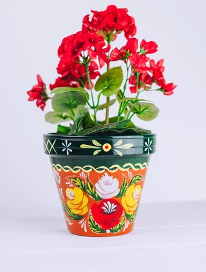 Terracotta Pot  Flower Painting - with Juliet Eve image