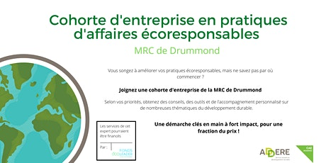 Séance d'information - Cohorte écoresponsable MRC de Drummond billets