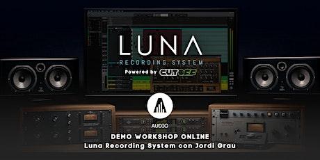 Demo Workshop Online: Luna Recording System entradas
