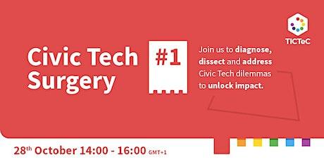 TICTeC Civic Tech Surgery #1: Public-private collaborations tickets