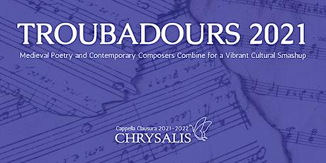 Troubadours 2021: Live in Concert tickets