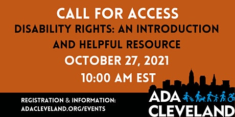 Disability Rights:  An Introduction and Helpful Resource tickets