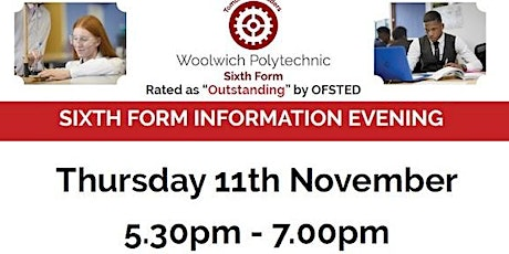 Woolwich Polytechnic Sixth Form Open Evening 2021 tickets