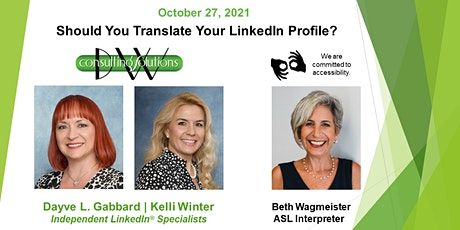 Should You Translate Your LinkedIn Profile? tickets