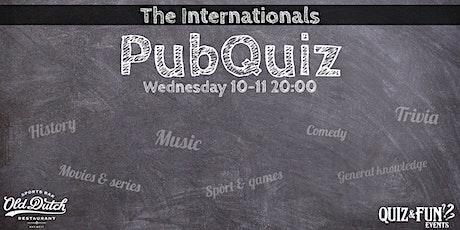 The internationals PubQuiz | Breda tickets