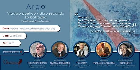 Argo Viaggio poetico- libro secondo-La battaglia biglietti