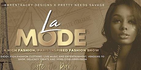 La Mode High Fashion Show tickets