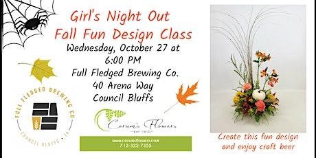Girl's Night Out Fall Fun Design Class tickets