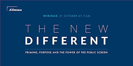 JCDecaux UK's 'The New Different' Webinar tickets