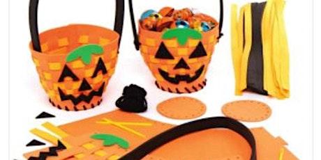 Halloween Craft Pumpkin Basket Weaving tickets