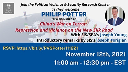SIS-OR PVS Cluster Event: China's War on Terror with Phil Potter tickets