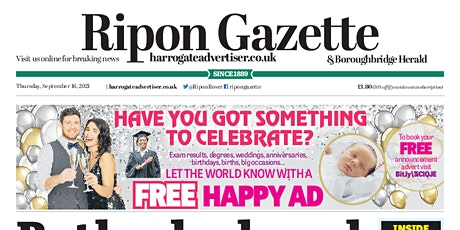 Ripon Gazette First Class New Starter's Edition tickets