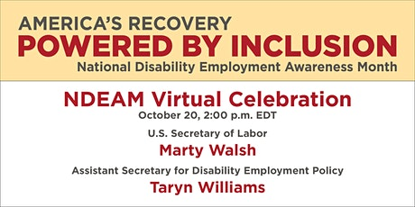 Celebrate National Disability Employment Awareness Month 2021 tickets