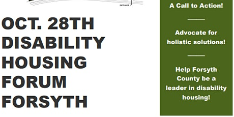 Disability Housing Forum Forsyth County tickets