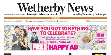 Wetherby News First Class New Starter's Edition tickets