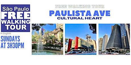 SP Free Walking Tour - PAULISTA AVE (English) ingressos