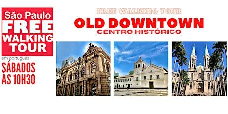 SP Free Walking Tour - OLD DOWNTOWN (Português) ingressos