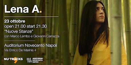 """Lena A. in """"Nuove Stanze"""" - Auditorium Novecento Napoli biglietti"""