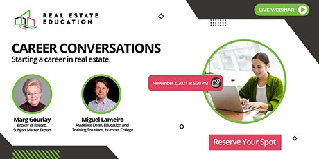 Career Conversations: Starting a Career in Real Estate tickets