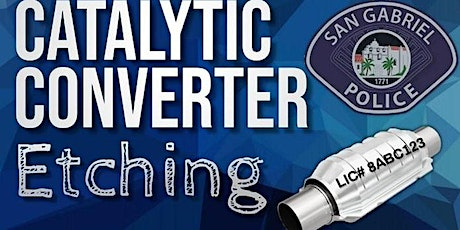 Catalytic Converter Etching tickets