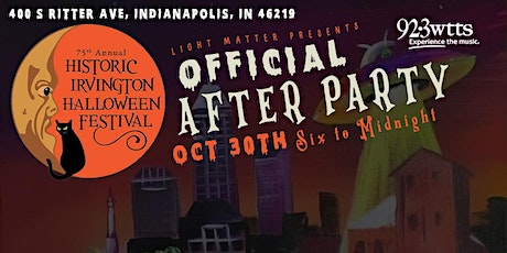 Irvington Halloween Festival's Official After Party tickets
