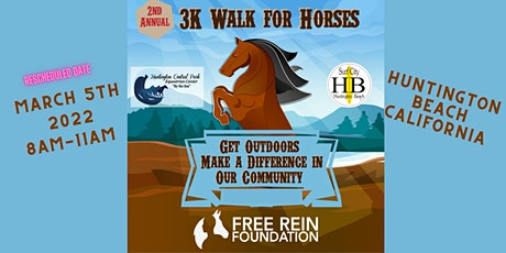 2nd Annual: 3K WALK FOR HORSES in Huntington Beach! *NEW DATE* tickets