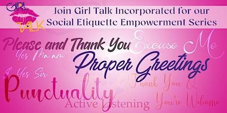 Girl Talk Incorporated Empowerment Workshop tickets