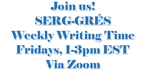 SERG Weekly Writing Sessions tickets