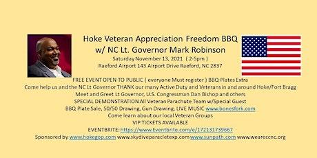 Hoke Veteran Appreciation Freedom BBQ w/ NC Lt Governor Mark Robinson tickets