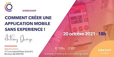 Workshop - Comment créer une application mobile  sans experience ! tickets