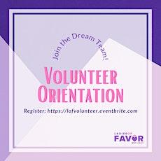 Ladies of Favor Inc. Volunteer Orientation tickets