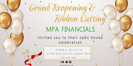 Grand Reopening & Ribbon Cutting for MPA Financials tickets
