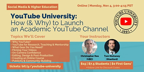 YouTube University: How (& Why) to Launch an Academic YouTube Channel tickets