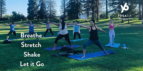 Join us for a free yoga class with YogaSix Tuesdays @ Lakeview Park 6:00 pm tickets