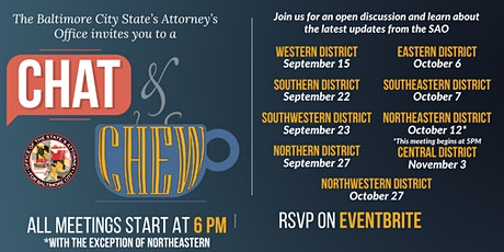 Baltimore City SAO Chat n' Chew - RSVP Required tickets