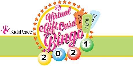 KidsPeace Gift Card Bingo tickets