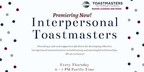 Interpersonal Toastmasters Club Meeting bilhetes