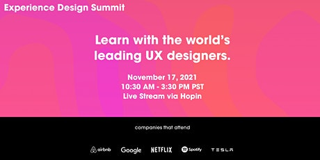 Experience Design Summit tickets