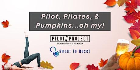 Pilates & Pumpkin Painting at Pilot Project Brewing tickets