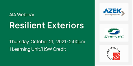 AIA Webinar: Resilient Exteriors tickets