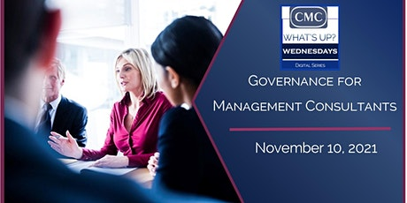 Governance for  Management Consultants tickets