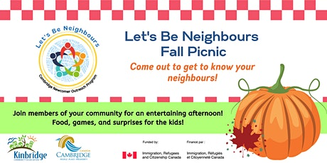 Let's Be Neighbours Fall Picnic tickets
