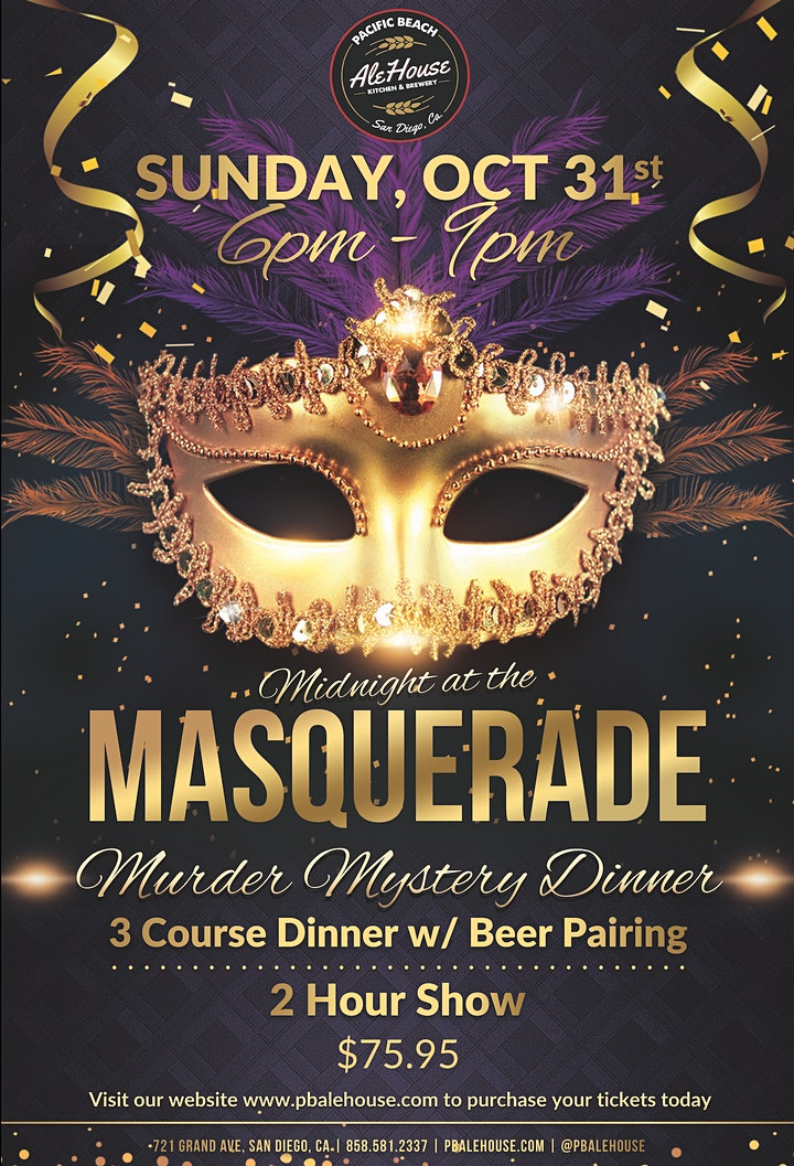 Midnight at the Masquerade - Murder Mystery Dinner image