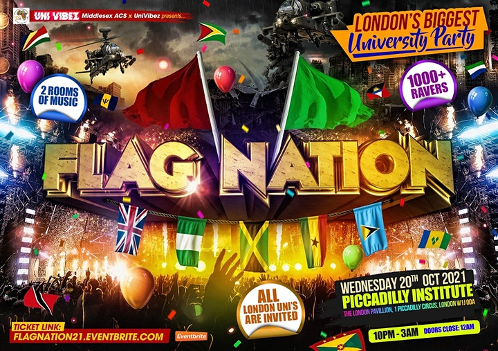 FLAG NATION - London's Biggest Link Up Party image