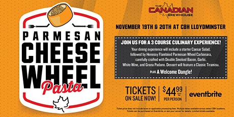 Cheese Wheel Pasta Night (Lloydminster) - Saturday tickets